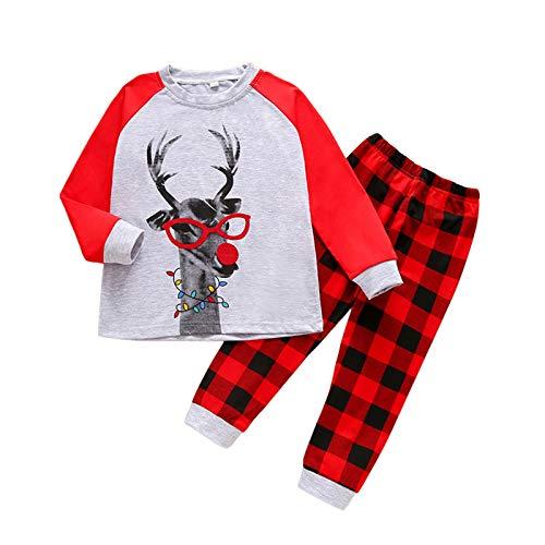 Kinder Weihnachten Pyjama Christmas Kids Pjs Outfits Jungen Mädchen Weihnachtsmann...