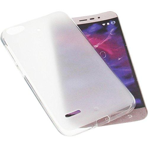 foto-kontor Tasche für MEDION Life P5006 Gummi TPU Schutz Handytasche transparent weiß