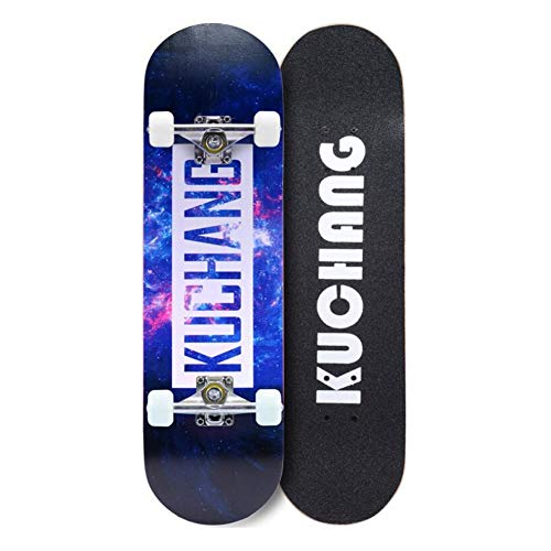 AZZ Skateboards 31 Zoll Komplett Skateboards for Teens Anfänger Mädchen Jungen Kinder Erwachsene, 7 Schicht Ahornholz Skateboard (Beste Geburtstagsgeschenk) (Color : Pattern 3)