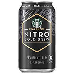 Starbucks Nitro Cold Brew, Black Unsweetened, 9.6 fl oz Can (8 Pack) (Packaging May Vary)