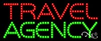 11x 27x 1インチTravel Agencyアニメーション点滅LEDウィンドウサイン