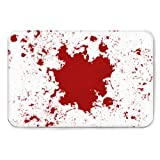 Doormat, Heavy Duty Indoor and Outdoor Doormat,Abstract Vector Blood Splatter red Color Isolated,Easy to Clean, Terrace, Decoration, Busy Area 2436in