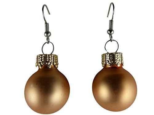 Weihnachtschmuck Ohrringe Weihnachten Schmuck Hänger Christbaumkugel Weihnachtskugel Baumschmuck kupfer matt K156