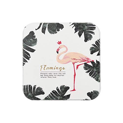 QIHANG Exclusive Wasseraufnehmendes Kieselgur-Gewebe Platzset Tischset Platzmatten für Ihren Glastisch Holztisch Gartentisch (Flamingo)