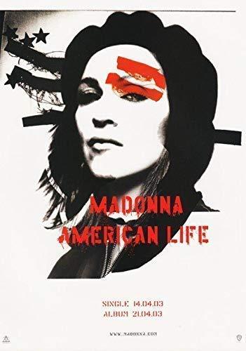 Desconocido Madonna American Life Póster Foto Rebel Corazón Camisa CD Tour 006 (A5-A4-A3) - A3