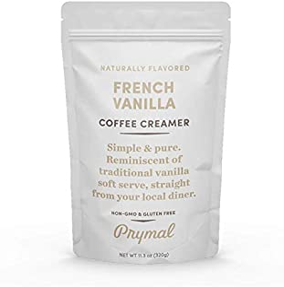 PRYMAL Coffee Creamer - Keto, Non Dairy, Sugar Free (French Vanilla) Natural, Non Refrigerated Powder with MCT - 11.3oz Bag