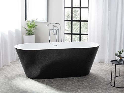 Badewanne schwarz/weiß elegant oval Cabritos