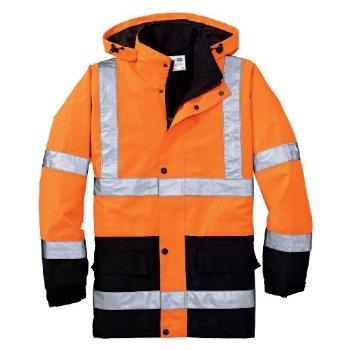 Cornerstone Class 3 Waterproof Parka Jacket, 4XL, Safety Orange