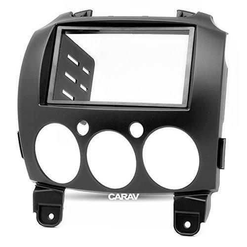 carav 11–079 Doppel DIN Autoradio Radioblende DVD Dash Installation Kit für Mazda 2, Demio Faszie mit 173 * 98 mm und 178 * 102 mm