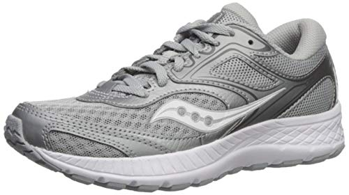 Saucony Men's Cohesion Running Shoe, Grey/Silver, 10 W US