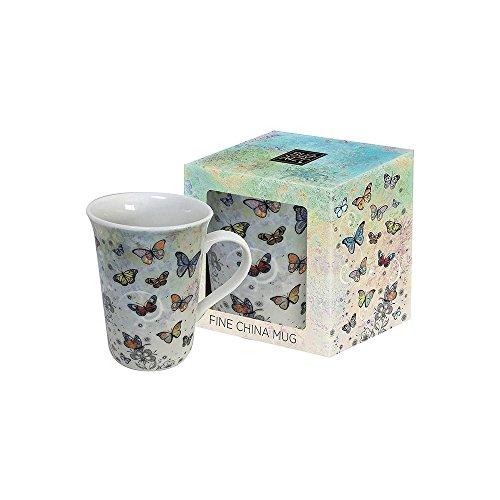 Bug Art Mug en porcelaine fine Motif papillons