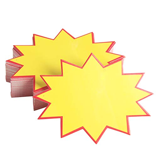 Ira Pollitt 230 Pieces Blank Star Burst Signs Starburst Signs Burst Paper Signs Price Label Tags,3.5 x 4.7 inch