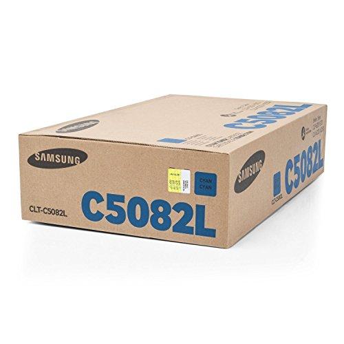 Original Samsung CLT-C5082L (SU055A) / C5082L, für CLX-6220 FX Premium Drucker-Kartusche, Cyan, 4000 Seiten