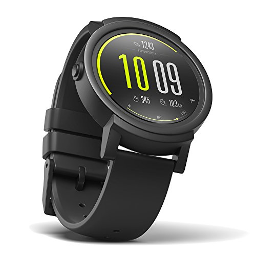 TicWatch E Shadow Smartwatch Intelligente Armbanduhr