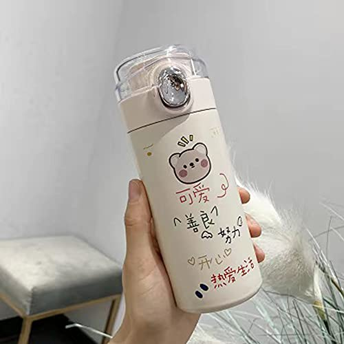 DearSnow Cute Pattern Thermos Mug Stainless Steel Vacuum Flasks Thermal Bottle(Love life,320ml)