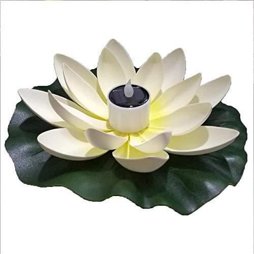 Solar-Schwimmleuchte, Lotusblume, mit Farbwechsel, schwimmendes Nachtlicht für Partys, Teiche, Pools, Aquarien, Landschaftsbau C