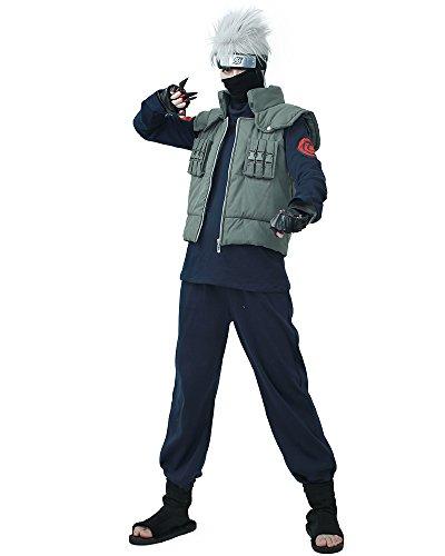 miccostumes Men's Fullset for Kakashi Hatake Cosplay Outfit (Men m) Dark Blue