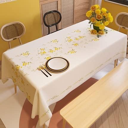 XXDD Hogar Algodón Lino Impermeable Flores y Plantas Patrón Mantel Comedor Rectangular Sofá Cubierta de Tela Decorar A10 150x210cm