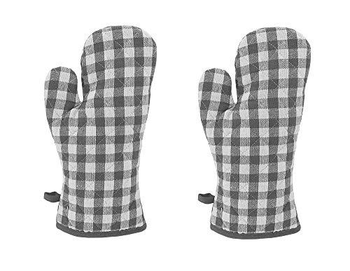 KUTEX 2 guantes de horno de cocina, guantes de horno microondas, antideslizantes,...