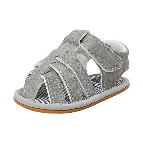 Zapatos para bebé y niño, sandalias para niña, zapatos de deporte, zapatos de verano, zapatos de ocio, transpirables, zapatos para correr al aire libre, gris, 21
