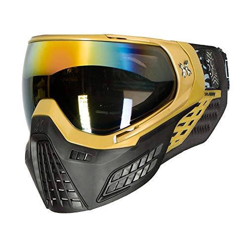 HK Army Paintball KLR Blackout Thermal Anti-Fog Mask/Goggles (Blackout Gold (Gold/Black))