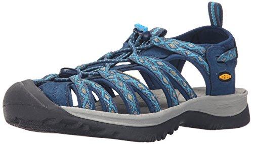Keen Whisper, Sandalias de Senderismo para Mujer, Azul (Poseidon/Blue...