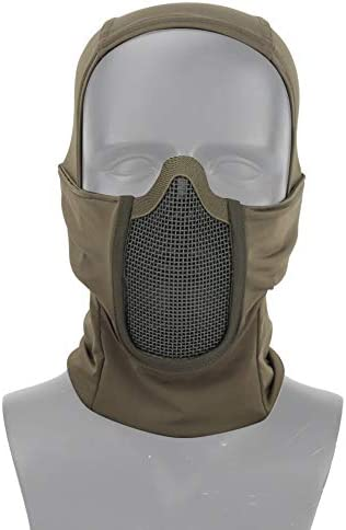 Livans Balaclava Mesh Mask Tactical Airsoft Full Face Protective Mask Ninja Style Hood Steel product image