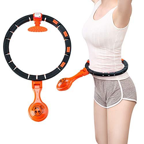 Surplex Automatiskt snurrande Fitness cirkel Fitness Däck Massage Sport, Justerbar Smart Räkning YoGa Fitness cirkel Droppe ej, för vuxna Barn, Slimming, Förlorad vikt, Ger Tunn midja, Fitness Aerobic Träning