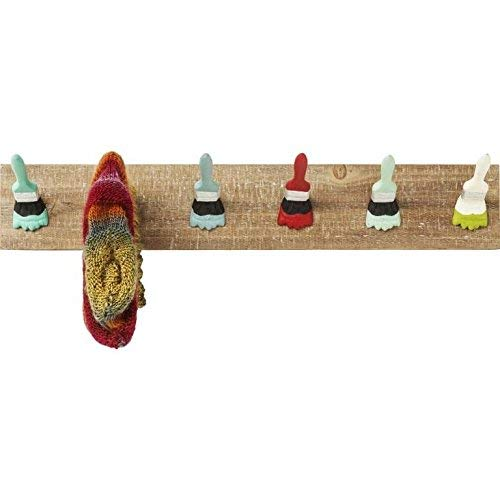 Kare Paintbrush Party Garderobe, Holz, Bunt, 15 x 70 x 12 cm