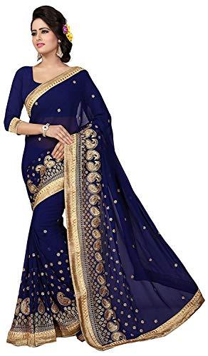 Swara Indische Bollywood Saree Golden Paisley Grenze Ethnische Partei Entwerferkleid Sari