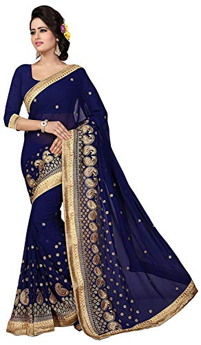 Bollywood Indian Saree Or Paisley Border Designer Parti Ethnique Robe Sari
