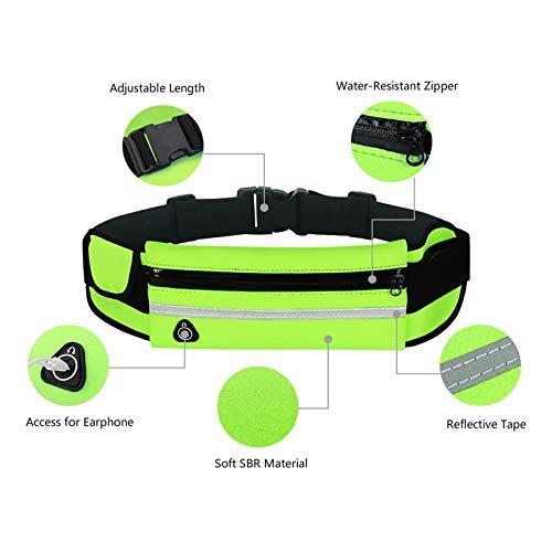 RAINYEAR Running Belt Bumbag Fanny Pack Waterproof Flip Belt Adjustable Fitness Waist Bum Pouch Bag Compatible with iPhone Series Samsung S/Note Phone,for Men Women Outdoor Gym Sports Travel(Fuschia)