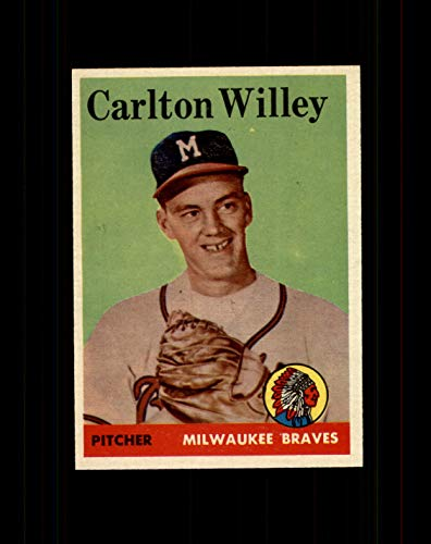 1958 Topps Baseball #407 Carlton Willey RC (Braves) STARX 8 NM/MT (CS34934)