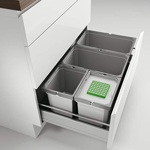 Naber Cox® Box 1T 800-4 Bio. Abfallsammler, hellgrau.