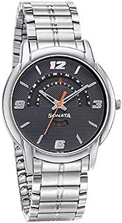 سوناتا ، مقاومة للماء، ميناء أسود مع تقويم، ساعة رجالي