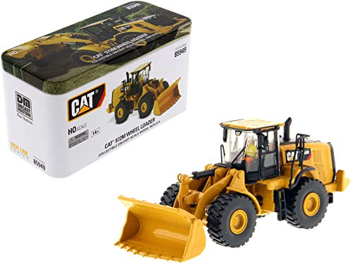 CAT Caterpillar 972M Wheel Loader with Operator High Line Series 1/87 (HO) Scale Diecast Model by Diecast Masters 85949