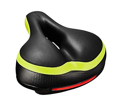LDALAX Fahrradsattel, Gepolsterter Elastizitätsschaum fahrradsattel Komfort, Hohl Ergonomisch Fahrradsitz, Wasserdichter und Atmungsaktiver mit Fahrradreparaturwerkzeug und Schraubenschlüssel