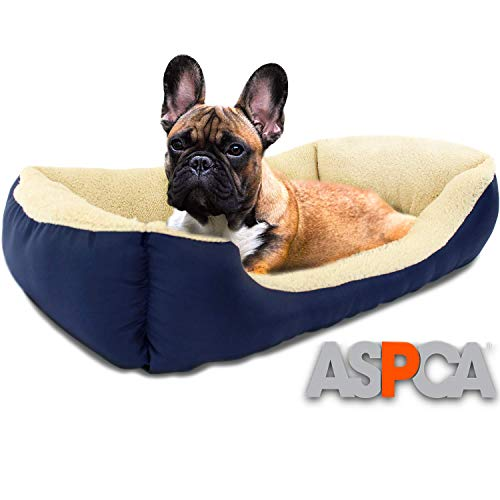 ASPCA Microtech Dog Bed, for Small to Medium Pets, Blue