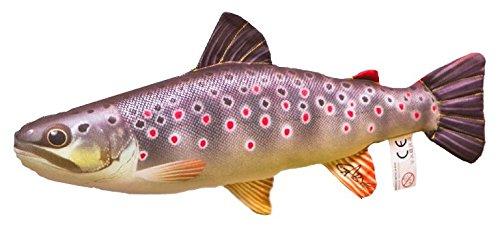 Kissen Fisch die Bachforelle 36 cm Kuschelfische Kuscheltie Kopfkissen Plüschtier