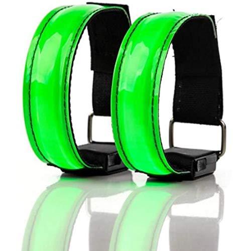 Cuasting 2 piezas de luz de correr para corredores recargable LED brazalete de correr reflexivo, banda de luz LED para ciclistas caminantes