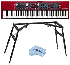 NORD Stage 3 88 88-Key Digital Stage Piano with Fully Weighted Hammer Action Keybed - With NORD Keyboard Stand, Microfiber Cloth