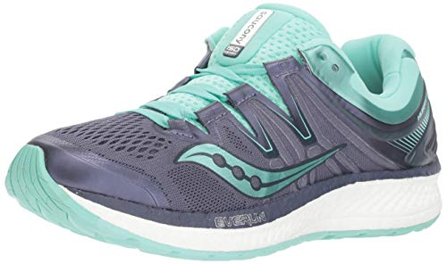 Saucony Women's Hurricane ISO 4 Sneaker, Grey/Aqua, 080 M US