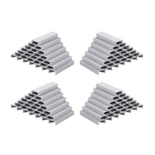 Grapas estándar 26/6 por tira, plateadas, 4000 unidades