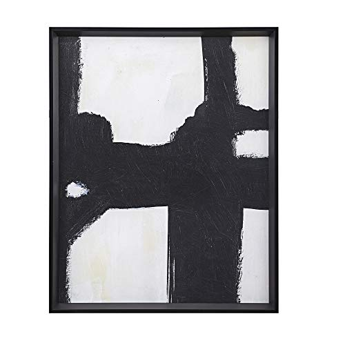 MARTHA STEWART Directional Ebony Wall Art Living Room Abstract Framed Canvas Home Accent Modern