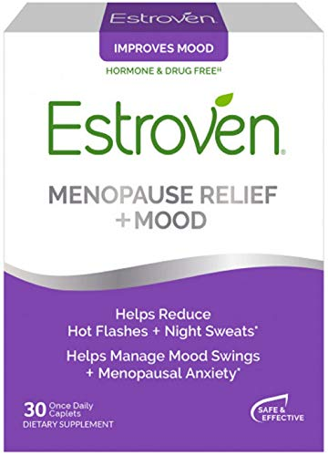 Estroven Stress Plus Mood & Memory | Menopause Relief Dietary Supplement | Safe Multi-Symptom Relief | Helps Reduce Hot Flashes & Night Sweats* | Helps Manage Daily Stress & Mood* | 30 Caplets