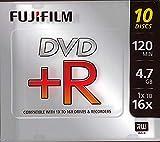 Fuji DVD+R Recordable Disc DISC,DVD+R,16X,SLM CS,10P 7607 (Pack of 10)