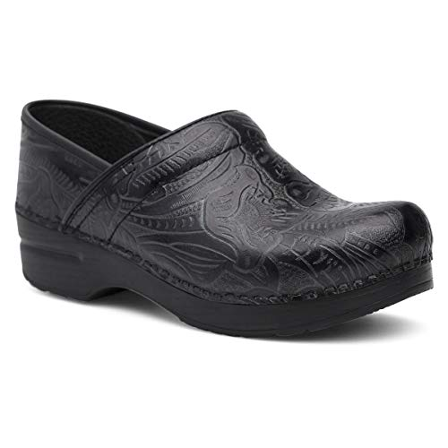Dansko Women's Professional Black Tooled Clog 5.5-6 M US