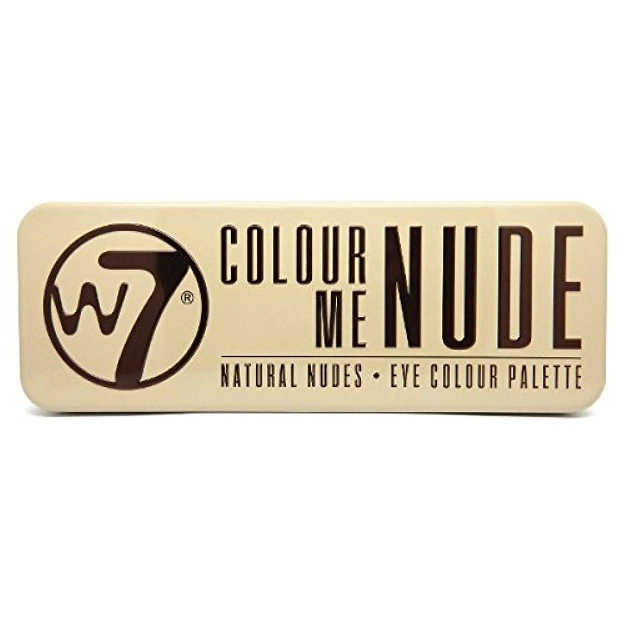なかなかダース猛烈なW7 Colour Me Nude Natural Nudes Eye Colour Palette (並行輸入品)