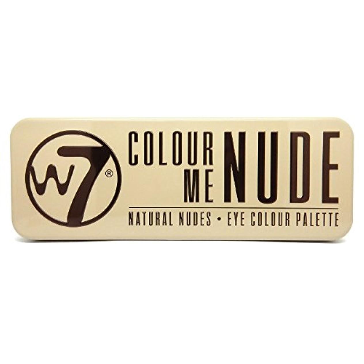 一時解雇する堀飲み込むW7 Colour Me Nude Natural Nudes Eye Colour Palette (並行輸入品)