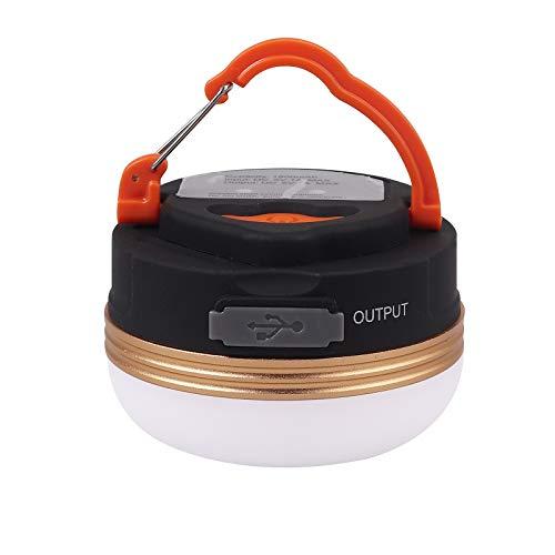 PROZOR Linterna Camping LED Lámpara de Campamento 4 Modos Luz de Emergencia Recargable USB con Base Magnética IP65 Mini Portátil Impermable para Acampada Emergencia